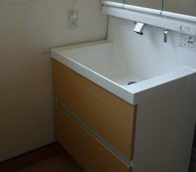 広くなった洗面台