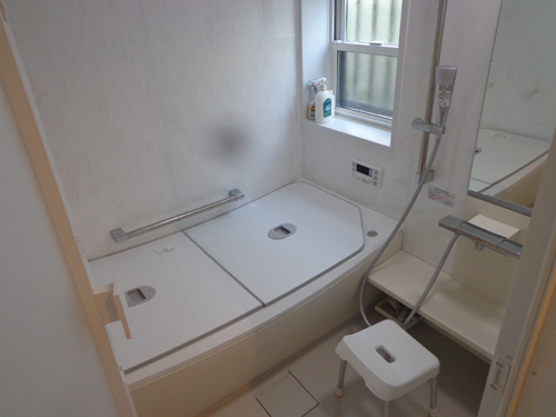 0.75坪→1坪のお風呂に大改造!今までよりも浴槽・浴室共に広々した空間になりました!