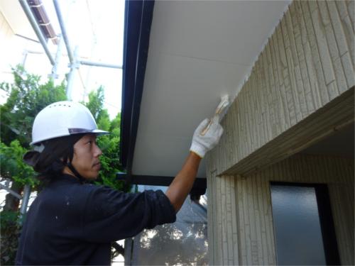 外壁塗装:施工途中