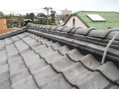 瓦屋根の修繕工事!