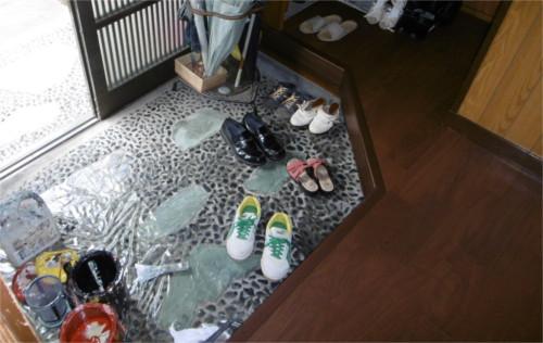 玄関床:施工後