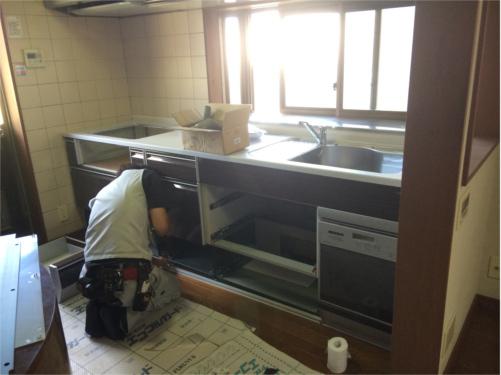 システムキッチンのいれ込み!