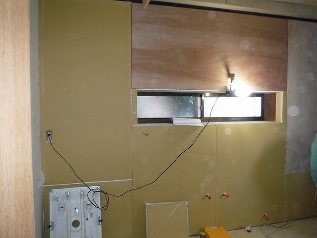 キッチン:施工中