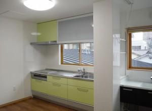 二世帯住居のために!間取りを変えてキッチン新設!