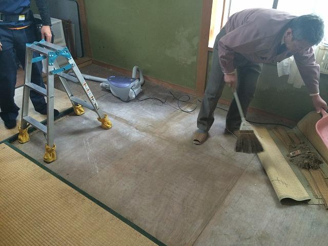 和室修繕工事:施工中