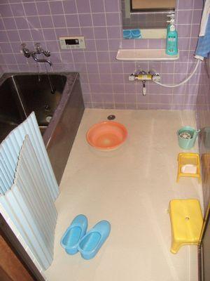 浴室が暖かいイメージに