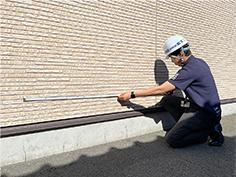 外壁面積を採寸します。