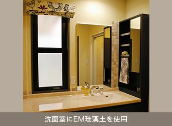 洗面室にEM珪藻土を使用(使用例写真)