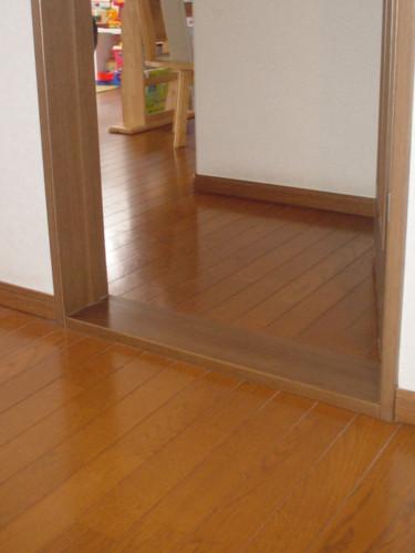 ドア敷居の段差