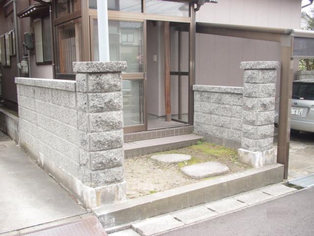 玄関前:施工前