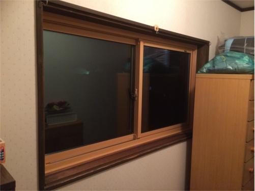 単板ガラスをLOW-E複層ガラスに入替え! サッシも入替え、塗装もさせていただきました!!