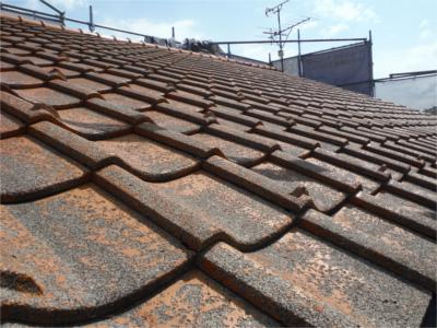 瓦屋根葺き替え:施工前