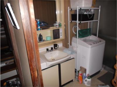 洗面台:施工前