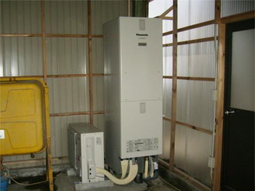 石油給湯器からエコキュートに変更!オール電化住宅へリフォームです!
