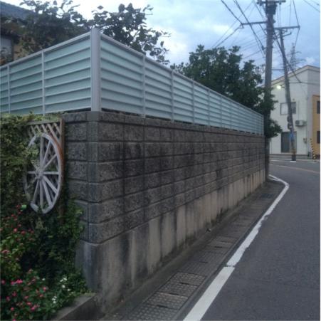 既存の塀にフェンス増設!