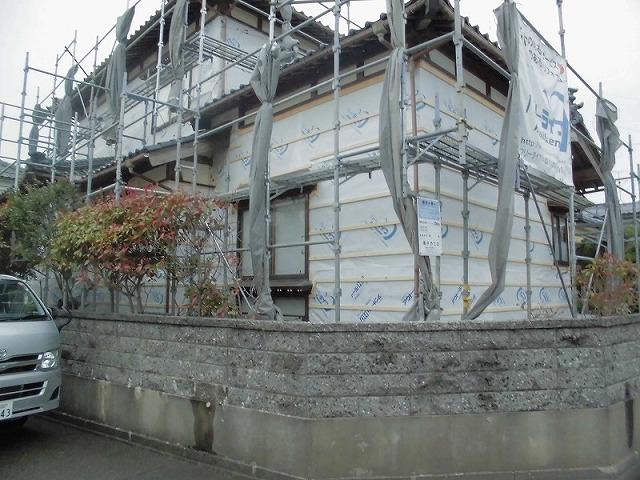 外壁サイディング:施工中