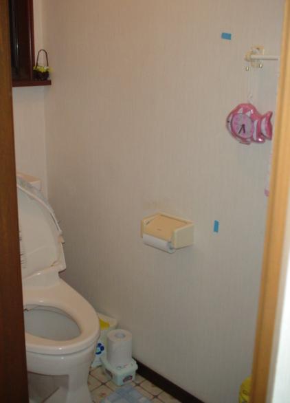 トイレ手すり設置:施工前