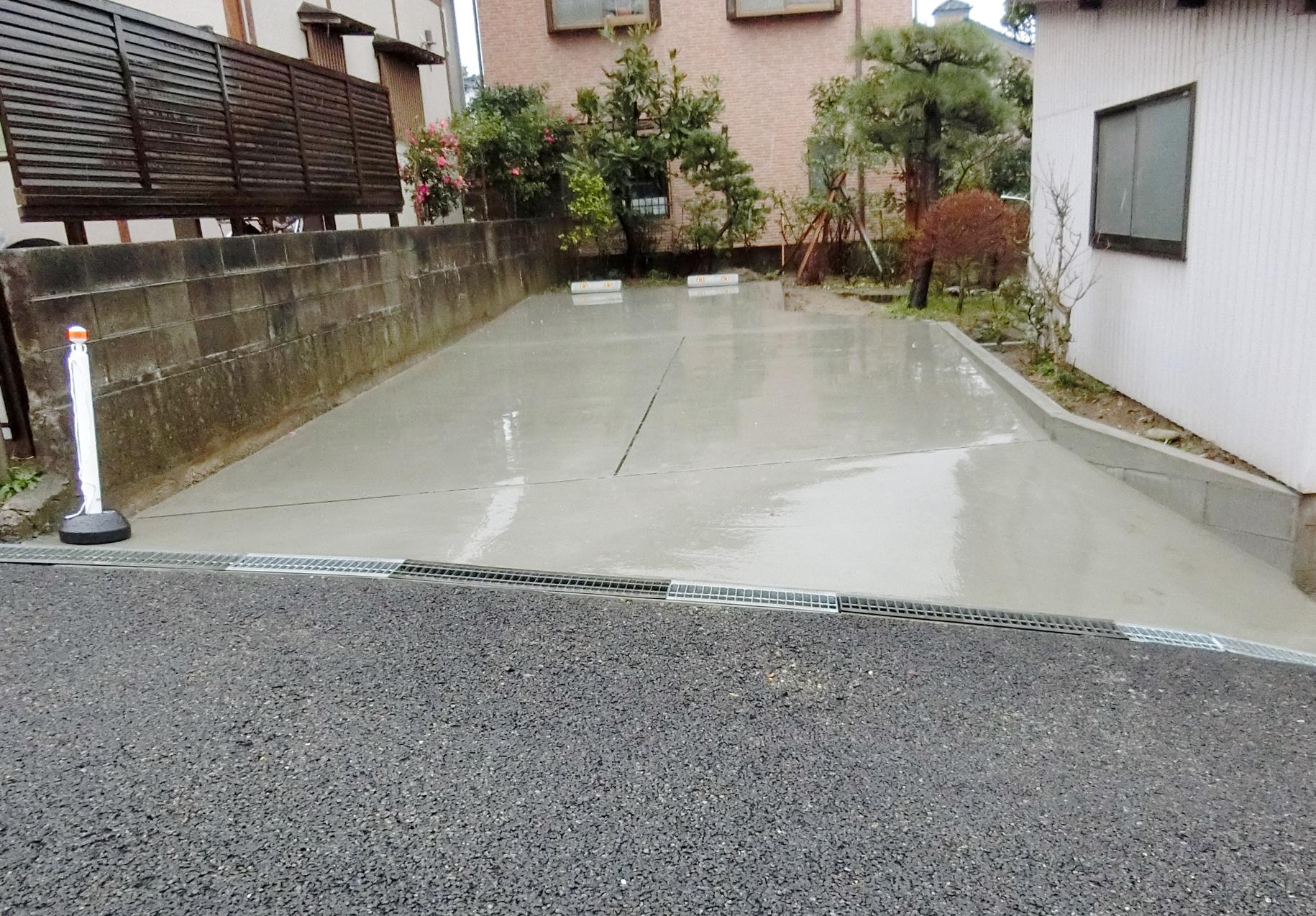 新潟市西区・土間打ち工事・アフター