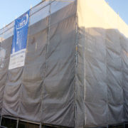 新潟市西蒲区 外壁上張り工事