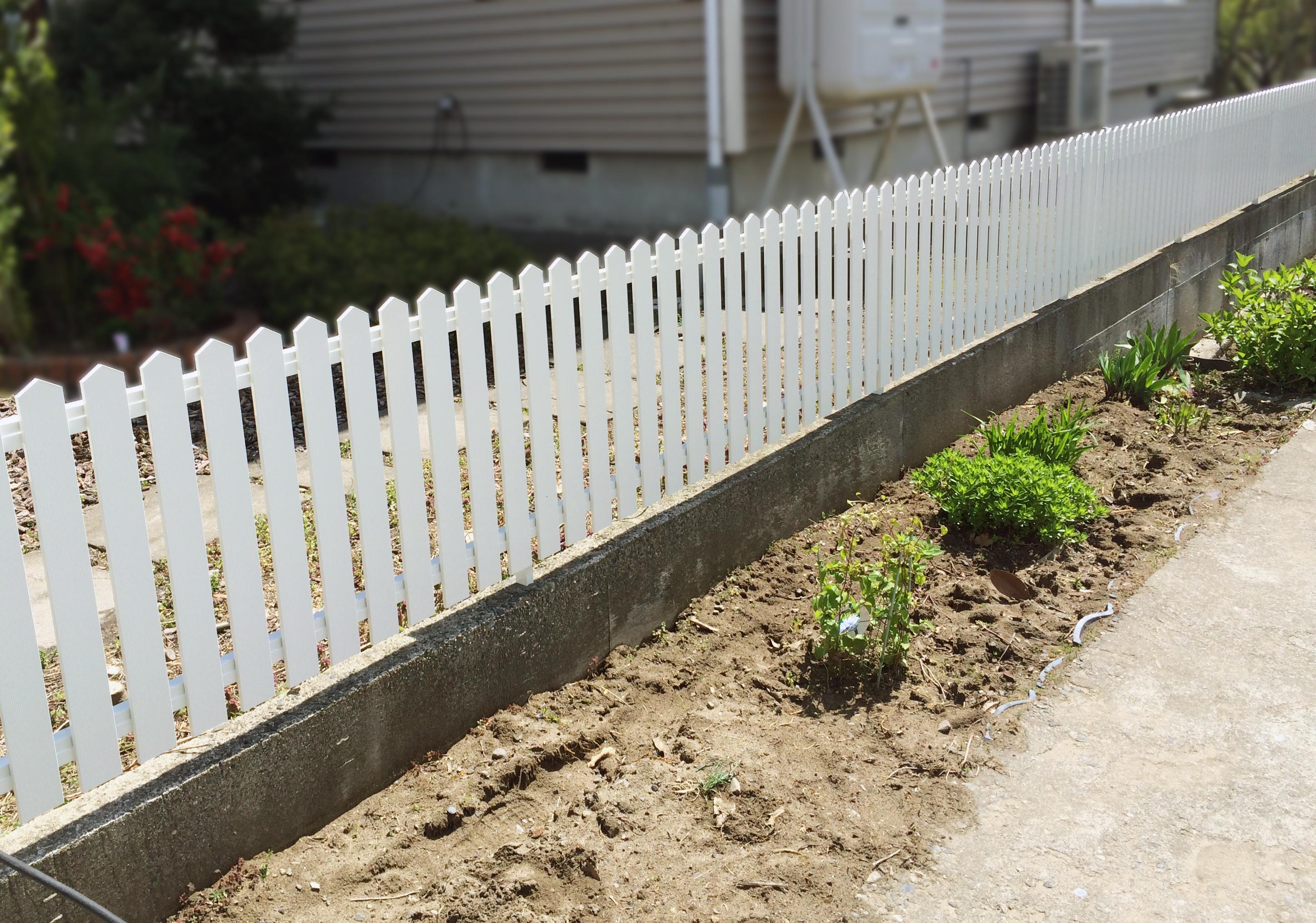 フェンスを新設