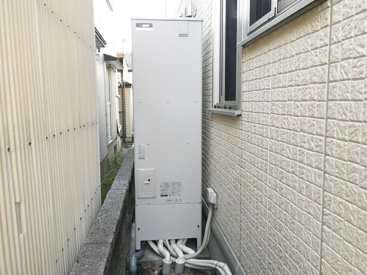 <三菱エコキュート>給湯器交換