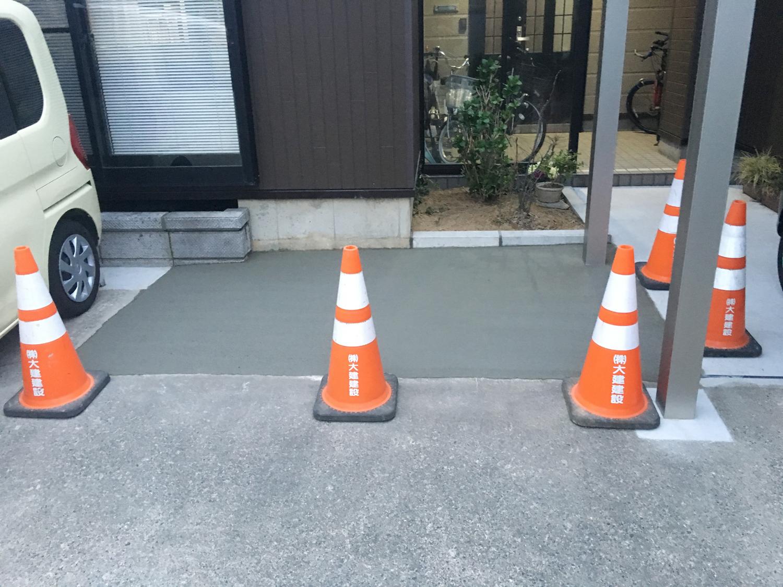駐車スペースを拡張してゆとりある駐車!