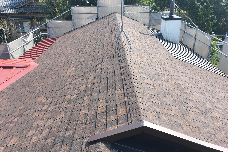 オークリッジの屋根葺き替え