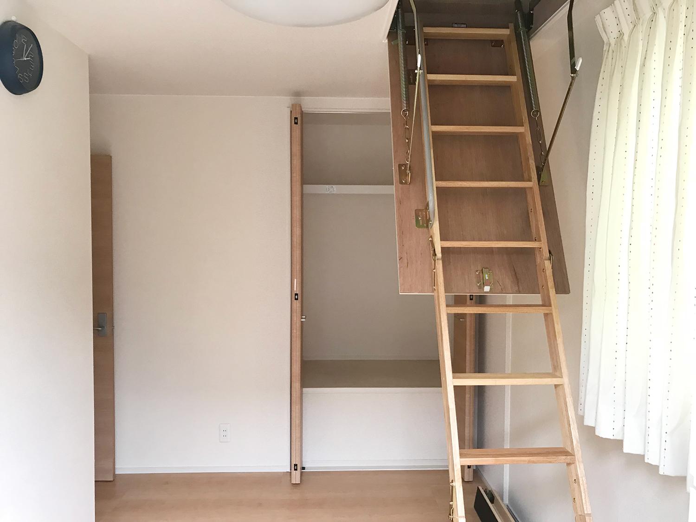 屋根裏に収納スペースを設置!