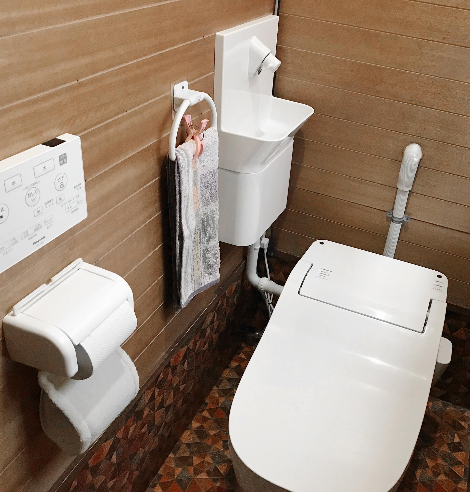 タンクレストイレ手洗い器付き!ワンデーリモデルタイプ