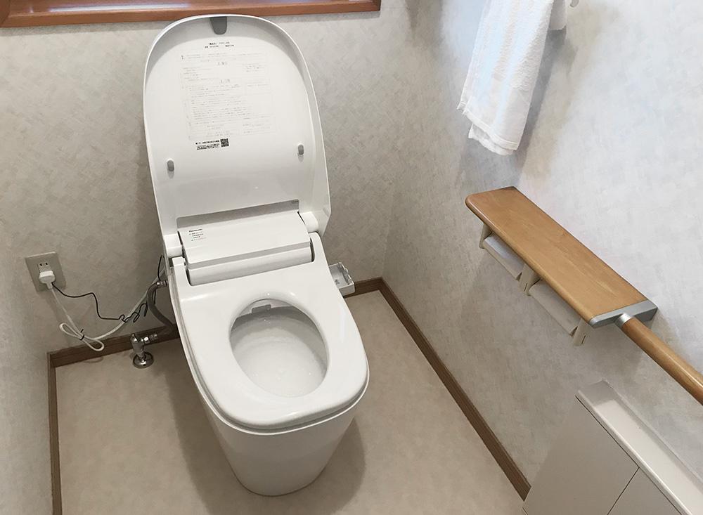 タンクレスのトイレ